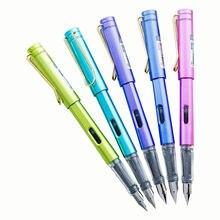Студенческая чернильная ручка прозрачная цветная твердая каллиграфия