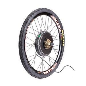 Image 2 - MTB Ebike Rear Wheel Conversion Kit with MTX39 Thick Welding Rim KT LCD3 Display Tire Tube Freewheel Disc Brake