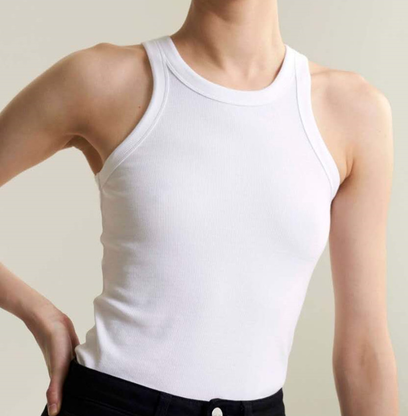 Nordic Niche 2019 Autumn / Winter New Slim fit Threaded Cotton Vest