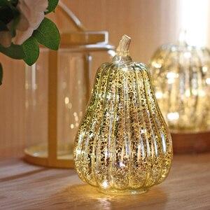 Image 4 - แก้วฟักทองLEDเรืองแสงที่ละเอียดอ่อนฮาโลวีนโคมไฟตกแต่งParty Suppliesสำหรับวันขอบคุณพระเจ้าฤดูใบไม้ร่วงฮาโลวีนตกแต่ง
