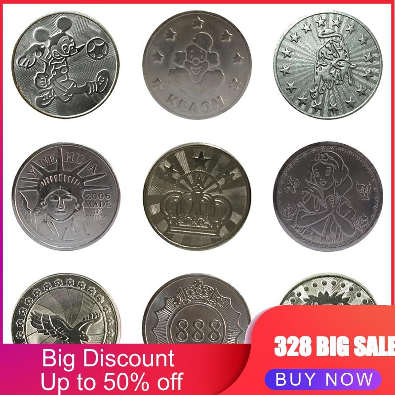 [18 Patterns]100pcs Arcade Game Coin Token Stainless Steel Coins Tokens For Arcade MAME JAMMA Amusement Cabinet Vending Machines