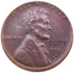США 1921D один цент 100% медная копия монеты