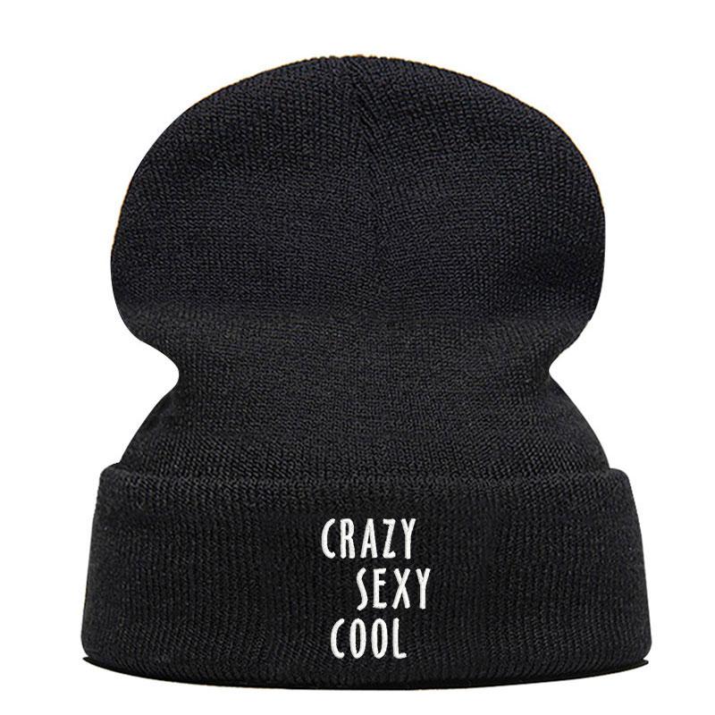 Beanie Hat Skullie Cap Slouchy Winter Embroidery Punk Men Women Boy Girl Teens Street Dance Customized Logo Crazy Sexy Cool