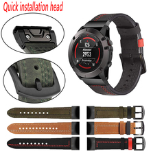 Lederen Band Voor Garmin Fenix 6X 5X Plus 5 6 Pro 3 Hr 935 945 Mk1 Smart Watch Polsband Vervangingen Quick release Accessoires