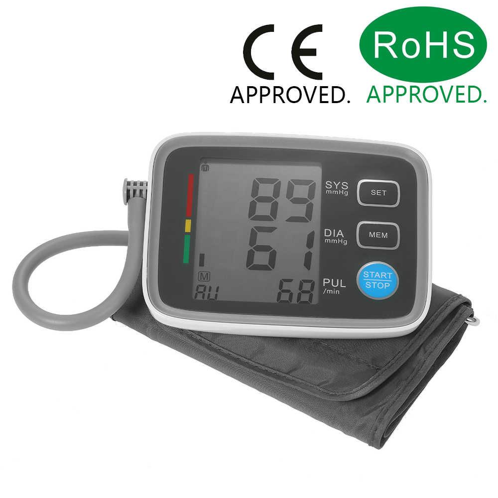 AlphaMed LCD ramię ciśnieniomierz z mankietem cyfrowy Arm tonometr przenośne ciśnienia krwi CE i FDA i ROHS zatwierdzone