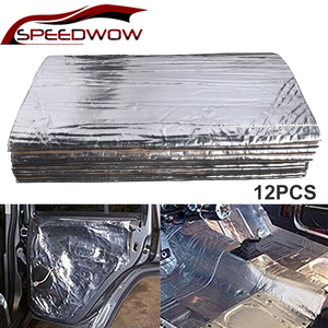 SPEEDWOW 12pcs Car Heat Shield Insulation Deadening Pad Firewall Sound Deadener Mat For Roofs Doors Wheel Arches Boot Hood