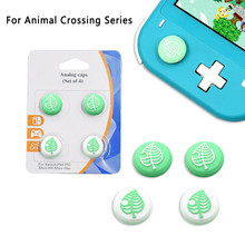 4pcs Cute Tree Leaf Cap For Nintendo Lite Analog Thumb Stick Grip For Nitendo Swith Joy Con JoyCon Controller Joystick Cap Cover(China)