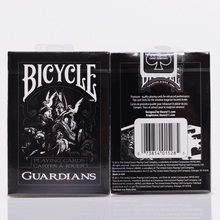1pcs Bicycle Guardians Deck Theory11 Black Magic Card Playing Card Poker Close Up Stage Magic Tricks for Professional Magician theory11 bicycle guardians playing cards original poker cards for magician collection card game