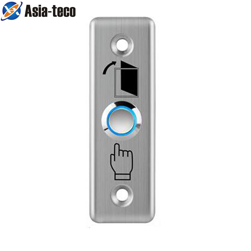 Stainless Steel Exit Button Push Switch Door Sensor Opener Release For Magnetic Lock Access Control