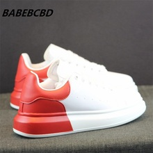 Womens Shoes Hidden Wedge White Fall 2020 New Joker Thick Red Couple Sports women shoes