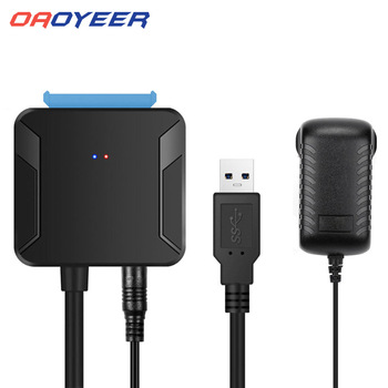 Oaoyeer 0,4 м USB 3,0 SATA кабели конвертер Мужской до 2,5/3,5 дюймов HDD/SSD накопитель провод адаптер проводной сетевой преобразования кабели дропшиппинг