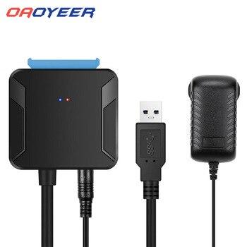 Oaoyeer 0.4m usb 3.0 sataケーブル変換オス2.5/3.5インチhdd/ssdドライブワイヤアダプタ有線変換ケーブルドロップシッピング