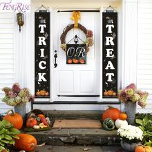 FENGRISE Halloween Pumpkin Banner Hanging 2019 Halloween Party Decorations Trick Or Treat Outdoor Curtain Halloween Accessories the berenstain bears trick or treat