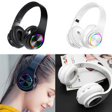 Music Gaming Bass Wireless Bluetooth Headset Headphones with Microphone for Playing Games Listening Earphones
