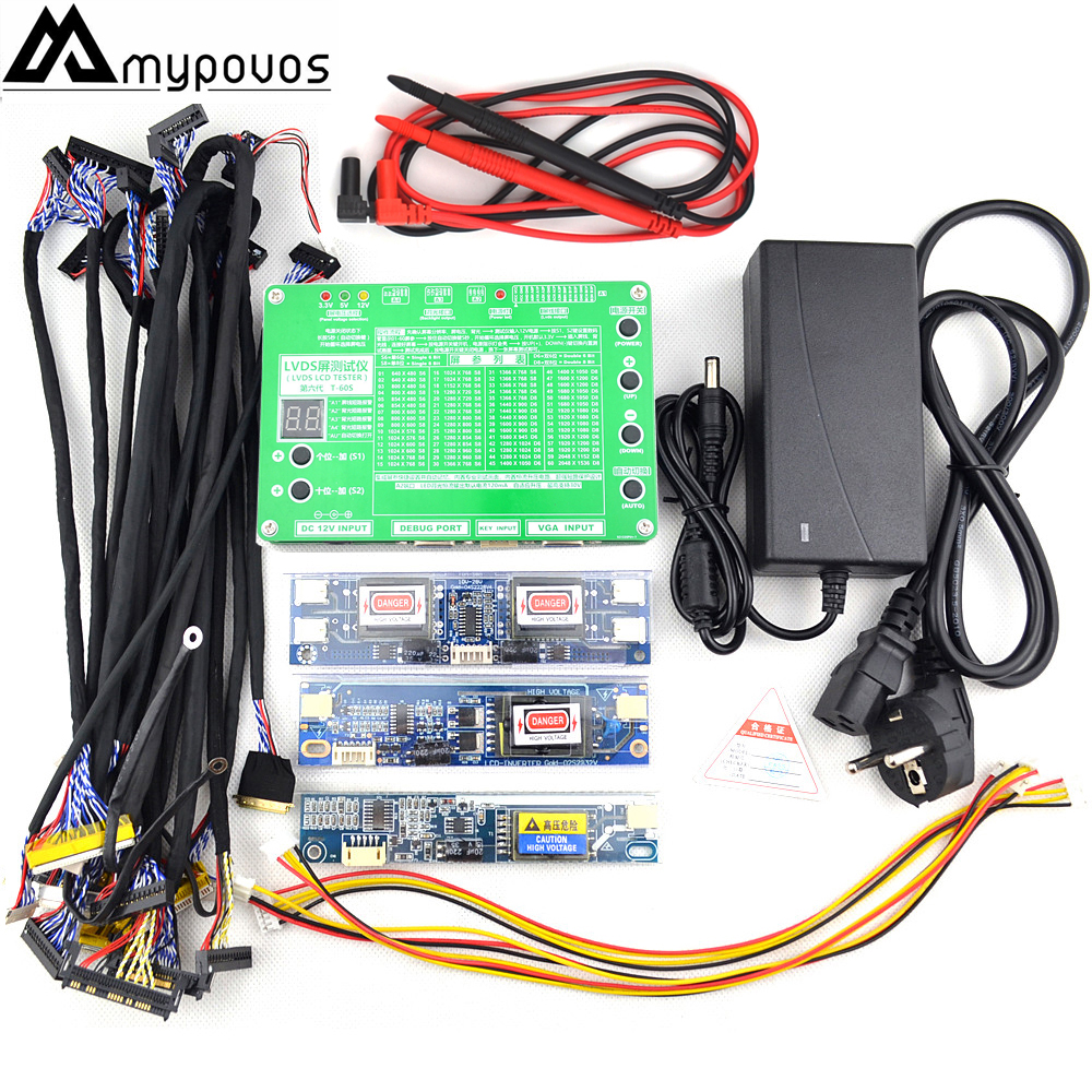 New Panel Test Tool LED LCD Screen Tester for TV/Computer/Laptop Repair Inverter Built-in 55 Kinds Program Support 7 -84 Inch