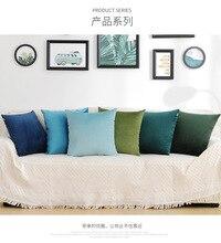 цена Solid color sofa hug pillowcase Nordic simple quality velvet waist cushion cover office pillowcase Home Decorative Pillow Case онлайн в 2017 году
