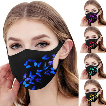 1pc Pretty Butterfly Mask Adult Fashion Washable Reusable Pollution Cover Face Masks Multiple Proteccion Winter Turban Masque image