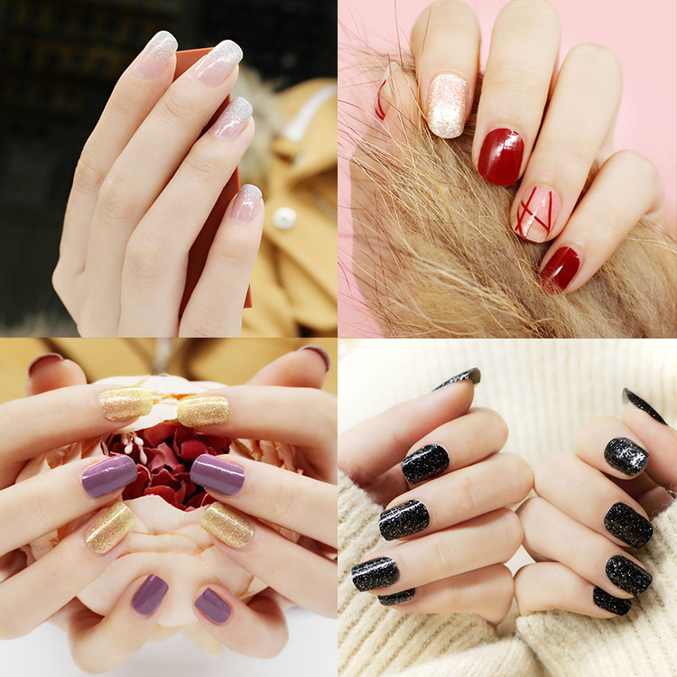Joyme Floral Nail Polish Film 20 Stickers Waterproof Long-lasting Stick Completely Nail Sticker Wine Red Nail Sticker Currently