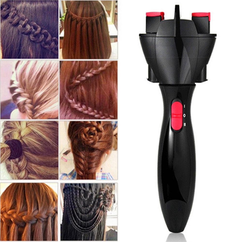 Trenzador de pelo eléctrico automático, dispositivo para tejer, máquina trenzadora de pelo, peinado, Cabello Herramienta de Peinado Trenzadoras    -