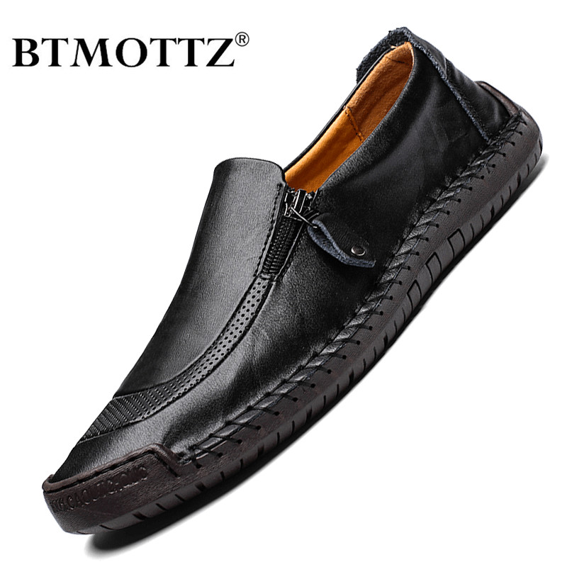 2020 Men Shoes Casual Genuine Leather Mens Loafers Moccasins Handmade Slip On Driving Shoes Classical Chaussure Homme Size 38-48