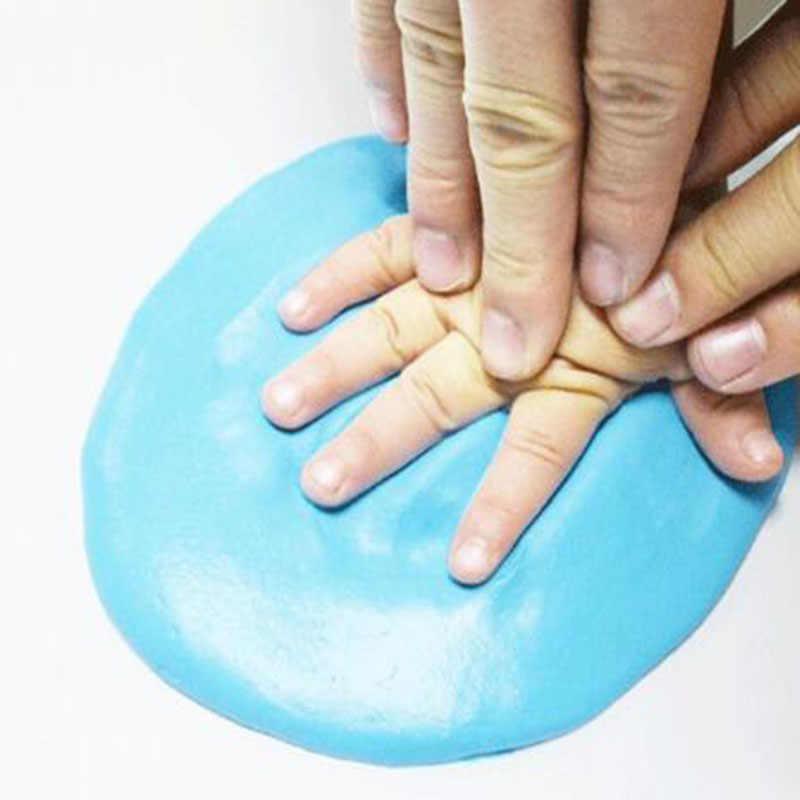 1 pc Baby Air แห้ง Soft Clay มือเด็กพิมพ์รอยเท้าพิมพ์ชุดหล่อมือเด็กแม่ลายนิ้วมือหน่วยความจำ
