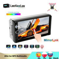 LeeKooLuu 2Din Car Radio Mirror Link (for Android Phones) 7 Inch Autoradio Central Multimedia Car MP5 Video Audio Radio Coche