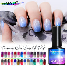 Wirinef thermo unha gel polonês mudança de temperatura cores semi permanente uv led unha laca gel manicure(China)