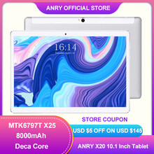 ANRY Tablet 10 cal 4G telefon otrzymać telefon zwrotny od 64GB ROM 4GB pamięci RAM 13MP aparat z tyłu IPS 1920*1200 Deca Core Dual Sim Android 8.1 tablet 10.1