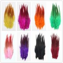 Atacado 100 pçs/lote alta qualidade faisão pena 10-15cm longo penas de frango diy jóias decoração pluma