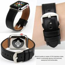 MAIKES Genuine Leather wrist band dispenser For Apple Watch Band 38mm series 3 42mm 44mm iWatch Series 6 5 4 3 2 1 New