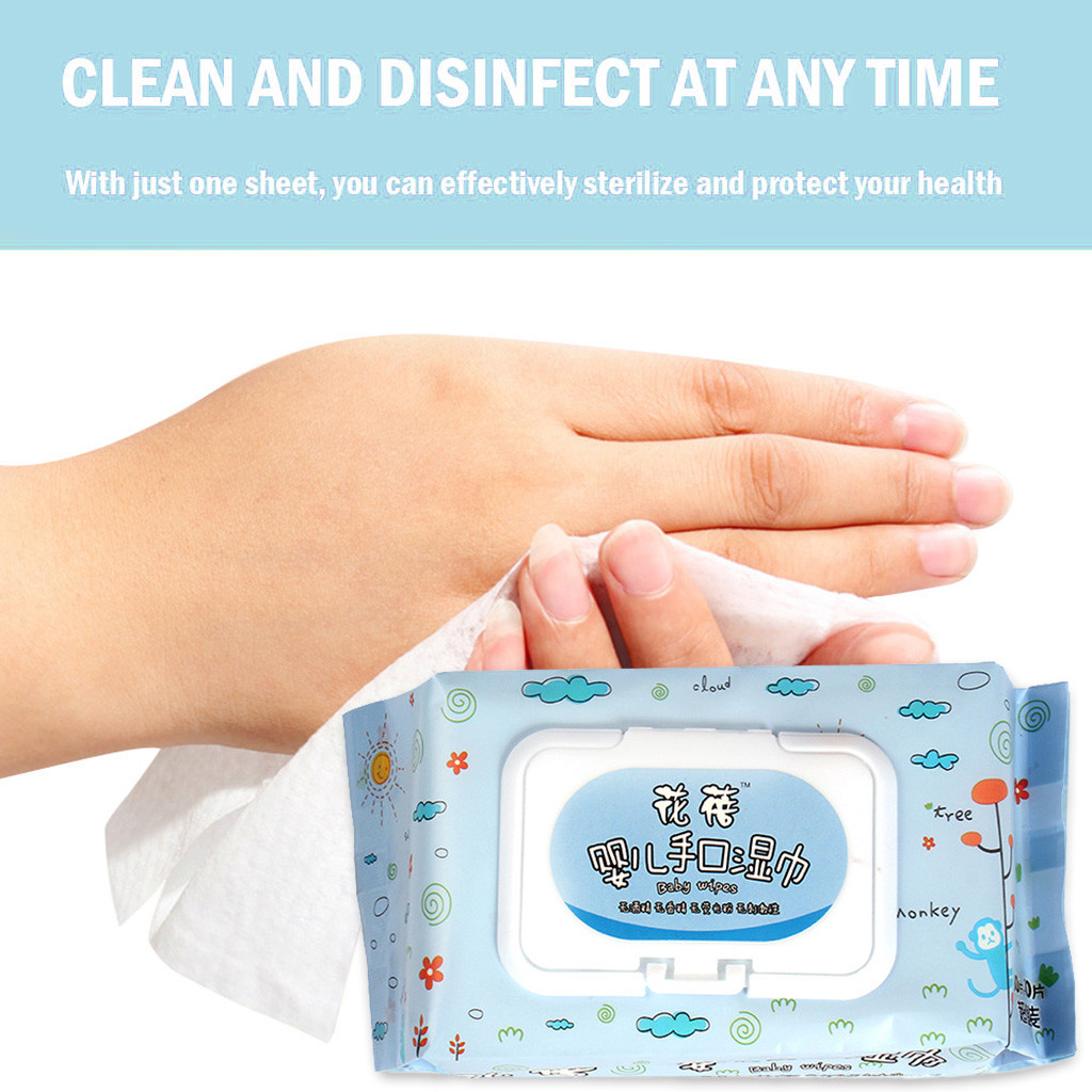 Baby Antibacterial Wet Wipe Tissue Clean Hand 90 Wet Wipes Per Pack Alcohol Wet Wipe Disposable Disinfection Alcohol Wipes Alcoh
