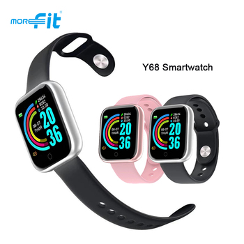 Y68 Smart Watch Men Sport Fitness Tracker D20 Pro Bluetooth Smartwatch Heart Rate Monitor Women Smart Bracelet for Android iOS dtno 1 s9 nfc smartwatch heart rate monitor bluetooth smart watch for ios android bracelet heart rate monitor activity tracker