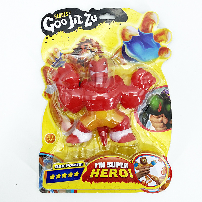 GOO Jit Zu Heroes Copy Software Vs Soft Shark Lion Wolf Toys Slimy Stress Relief Squeeze Hobbies Dolls Interesting Kids Gift
