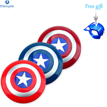 Captain America Shield arms quality toy with LED The Avengers mask Children's gift the avengers captain 32cm captain america assemble shield cosplay toy red