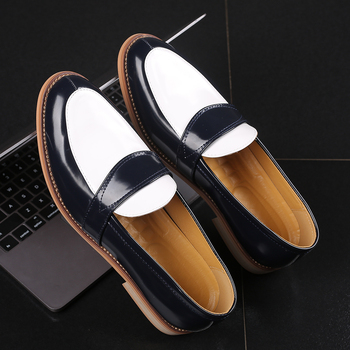 2019 Luxury Business Leather Shoes Party Casual Shoes Slip-on Flat Loafers Mens Formal Dress Shoes Wedding Nightclub Party Shoes 1