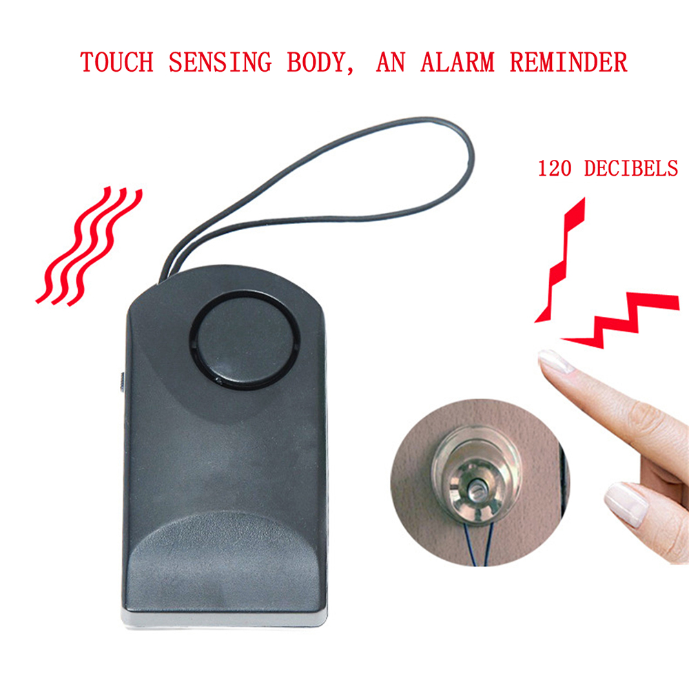 Portable Door Handle Touch Alarm Door Sensor Alarm Door Handle Alarm 120 DB Anti-theft Scaring Door Security Hotel Safety Siren