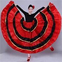 Испанский танец костюм классические Gypsy танцевальный костюм платье для фламенко для Для женщин качели юбки коррида живота Производительно...