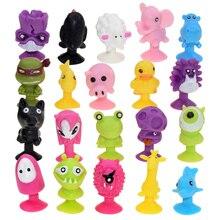 10/20/50 pièces/lot Mini monstre ventouse Capsule modèle petit dessin animé Anime animaux figurines daction ventouse jouets pour enfants