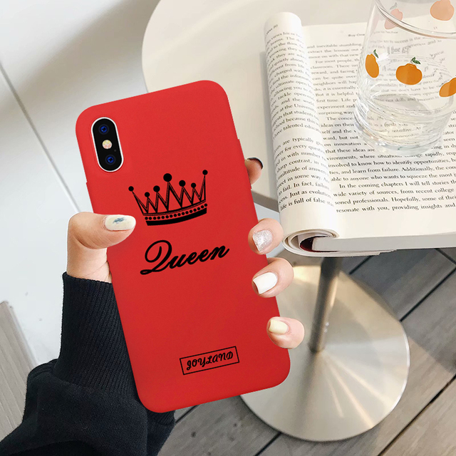 Cartoon King Queen Couple Case For iPhone