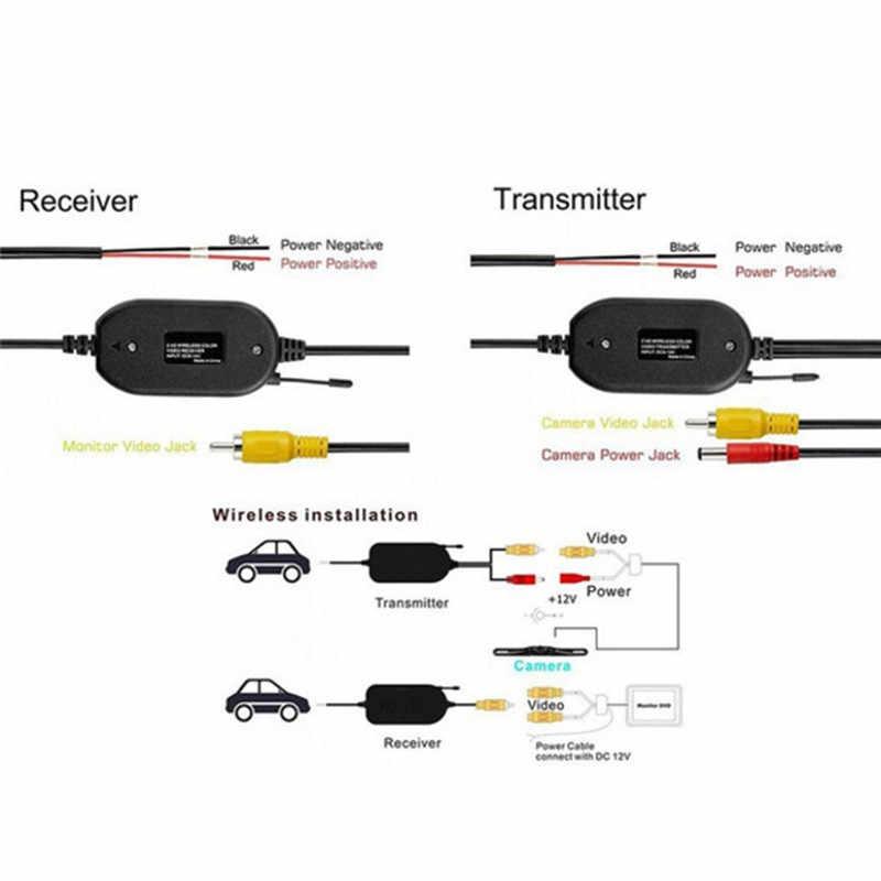 2.4G bezprzewodowy nadajnik i odbiornik na widok z tyłu samochodu kamera cofania i Monitor asystent parkowania pojazdu CAM