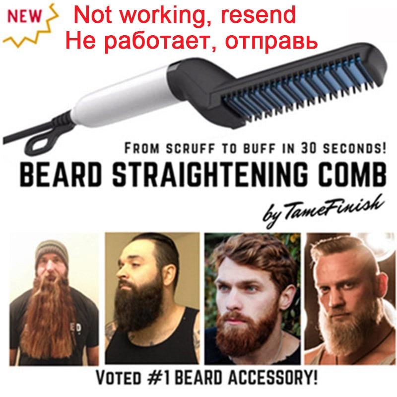 Men Quick Beard Straightener Styler Comb Multifunctional Hair Curling Curler Tool Electric Hair Styler For Men Permed Clip Comb