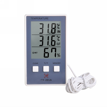 Digital Thermometer Hygrometer Indoor Outdoor Temperature Humidity Meter C/F LCD Display Sensor Probe Weather Station image