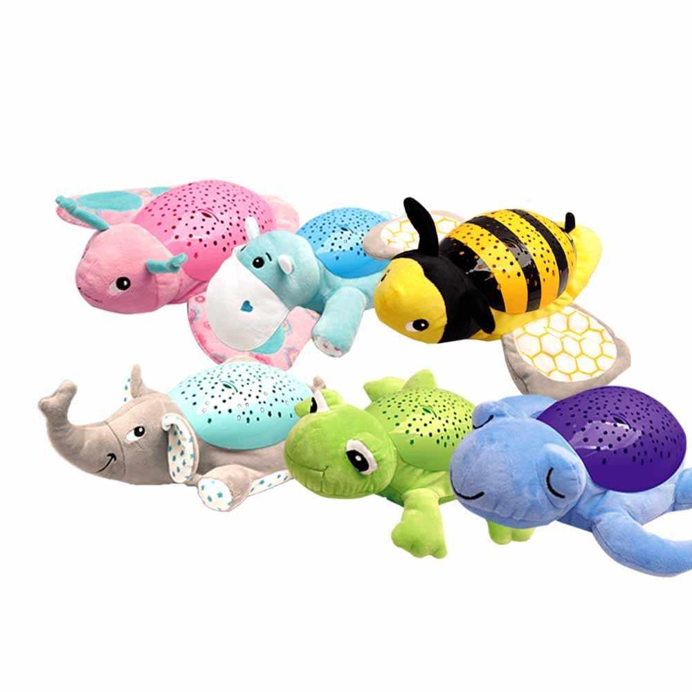 Люминесцентные игрушки Детский проектор свет Бегемот сна светодиодный ночник звезды инструмент вокальная игрушка музыка и свет проектор детский пластик