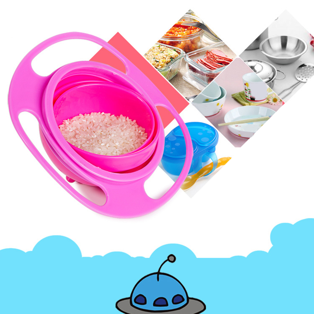 High Quality Baby Feeding Learning Dishes Bowl Creative Assist Toddler Baby Food Dinnerware For Kids Eating Training Gyro Bowl