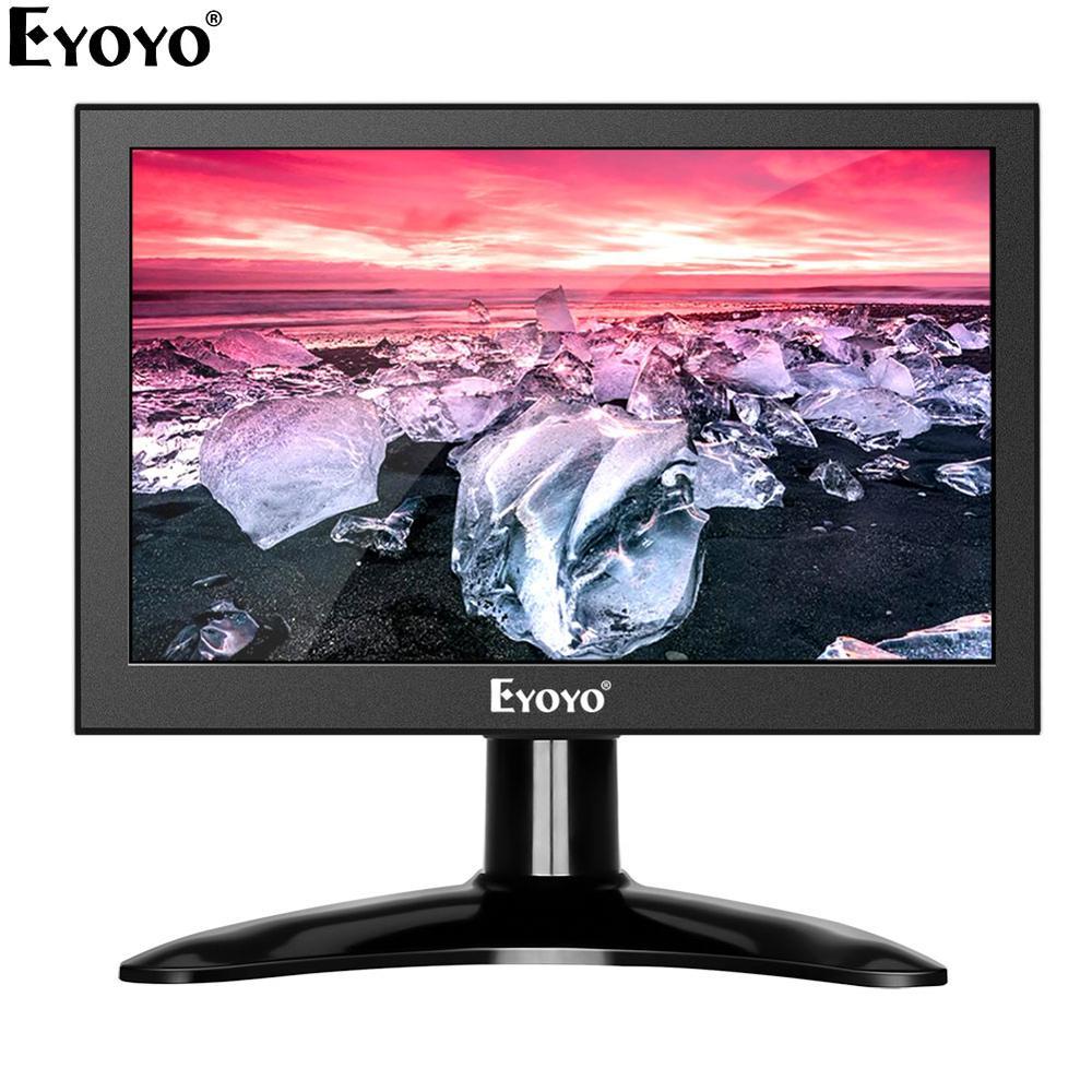 Eyoyo EM07H 7 Inch Mini IPS 1280x800 LCD Monitor PC Computer Screen HDMI Industrial Security Screen Display With VGA AV BNC