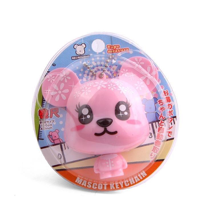Инструмент для украшения дома милый рулетка один кусок медведь пара брелок сумки Автомобиль Подвеска игрушки подарок