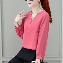 Women's Spring Summer Style Chiffon Blouses Shirt Women's Bu
