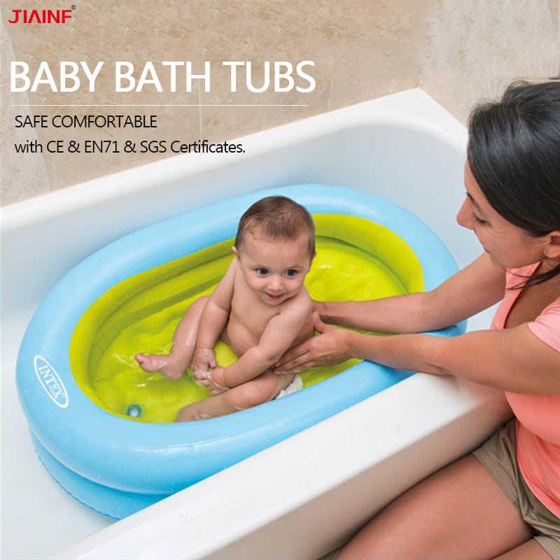 0-12 ay için bebek şişme küvet yenidoğan banyo küvet taşınabilir katlanır duş tekneleri çocuklar banyo çocuk bebek yıkama yüzme havuzu