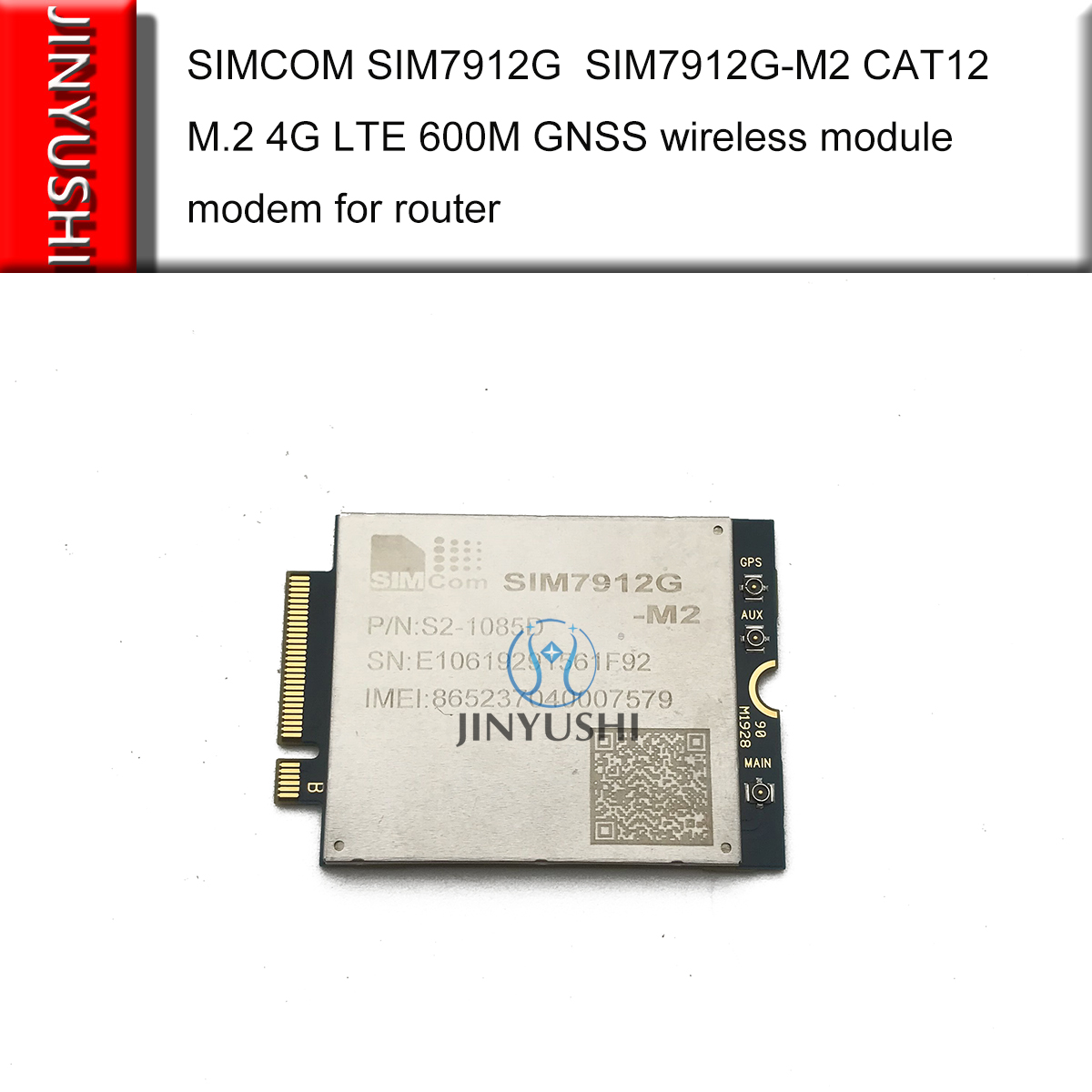 SIMCOM SIM7912G  SIM7912G-M2 CAT12 M.2 4G LTE 600M +Mini Pcie To Usb 3.0 Adapter+ MHF4 To SMA Pigtail+M.2 To Mini Pcie Adapter