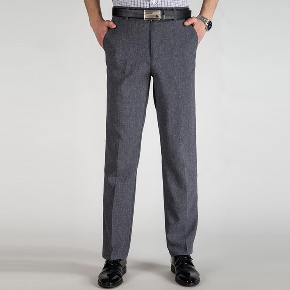 2020 Men's Suit Pants Men Dress Pants Fashion Trousers Straight Business Mans Formal Work Pants Plus Size Trousers
